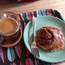 Coffee & Cinnamon Roll Home Made